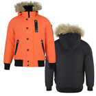 SALE Mens Coat Bellfield Faux Fur Lined Hooded Parka Winter Warm Casual Jacket
