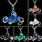 Cute Animal Mouse Long Sweater Chain Pendant Necklace Jewelry Mom Grandma Gift