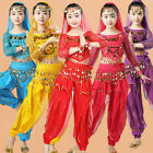 Girls Belly Dance Costume Children Indian Performance Whole Set Long Sleeves 06