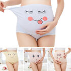 Maternity Panties Cute Printed Belly Care Briefs Over Bump Underwear Adjustable