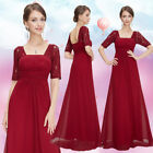 Ever Pretty Women Long Sleeve Lace Long Formal Evening Dresses Red Party 08038