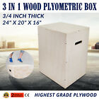 3 in 1 Wood Plyometric Box for Jump and Training Box Jumps Conditioning Fit Plyo
