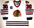 ED BELFOUR CHICAGO BLACKHAWKS CCM VINTAGE WHITE NHL 75TH JERSEY NEW WITH TAGS