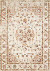 Ivory Floral Vines Pedals Traditional-European Area Rug Medallion 3001-00497