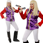 LADIES SUPER TROOPER 1970S 70S FANCY DRESS COSTUME CHOOSE WIG ABBA ADULTS OUTFIT