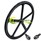 700c Bike Mag 5-Spoke Fixie Fixed Gear Single Speed Front Rear Wheel Rim Set