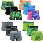 6,12 Pack Mens Boxer Cannabis Leaf Shorts Underpants Trunks Underwear Adults New