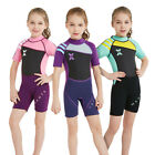 2.5MM Girl's Short Sleeve Warm Swimwear Coverall Wet suit Surfing Diving
