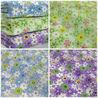 Per HALF metre dazzling daisies fabric in  3 colours POLYCOTTON 112 cm wide