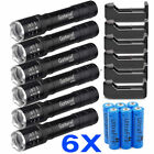 6x Military Tactical 15000LM T6 Power LED Zoom Flashlight + 18650&Charger USA