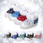 Floral Baby Kids Girl Boy Winter Warm Snow Boots Infant Sole Shoes Booties 0-18M
