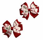 Candy Cane Toddler Hair Bow Set