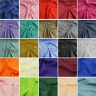 Plain Polycotton Fabric Coloured Solid Dress Craft Great Quality Price
