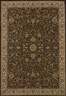 Black Traditional - Persian/Oriental Flowers Leaves Area Rug All-Over 172D2