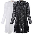 FALL Womens Long Sleeve Lace Floral Casual Cardigan Coat SLIM Jacket Blouse Tops