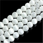 4-12 mm DIY Natural White Gemstone Stone Spacer Loose Beads Jewelry Making