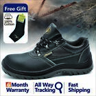 Safetoe Safety Work Shoes Mens Steel Toe Water Resistant Black Leather Anti nail