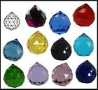 Crystal BALL 40mm Clear PINK Lilac BLUE Black VIOLET Green LEMON Red Suncatcher