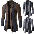Mens Knitted Cardigan Jacket Slim Fit Sweater Casual Long Sleeve Coat Knitwear