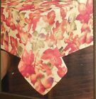 Harvest Festival Fall Leaves Fabric Tablecloth Thanksgiving