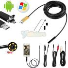 10M/5M/2M Android Endoscope USB Waterproof Borescope Inspection 30fps camera LED