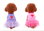 Dog Clothes I Love Dad/Mom Dog Tutu Lace Skirt Dress Cats Clothes Puppy Apparel