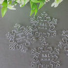 Personalised Snowflake Wedding Table Scatter Decorations - MrMrs Acrylic Favors