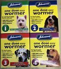 Johnsons One Dose Easy Wormer. Dog Worming Tablets, Roundworm Tapeworm
