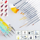 20pcs UV Acryl Gel set Pinsel Gelpinsel Nail Art Nagelart Maniküre Dotting Tool
