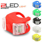 2P Sport Bicycle Bike LED Silicone Front Rear Head Wheel Safety Cycle Light Lamp