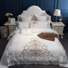 high quality long staple pure cotton bedding set embroidered bed in a bag sheet image