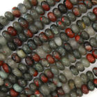 "African Blood Agate Rondelle Beads 15.5"" Strand 3x4mm 4x6mm 5x8mm 6x10mm"