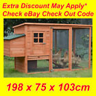 LARGE Chicken Coop Rabbit Hutch Ferret Cage Hen Chook House Guinea Pig Run