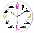 Large Vintage pvc Wall Clock Kitchen Home Modern Silent Kama Sutra Chic 2018 <br/> STUNNING * FREE DELIVERY * HIGH QUALITY * 3 STYLES