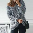 Women's Long Sleeve V Neck Sweaters Rib Knit Loose Blouse Knitted Knitwear Tops