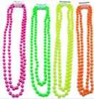 """48"""" Neon Beads Beaded Necklace 1980's Fancy Dress Accessory TuTu Rave"""