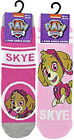 Girls Official Paw Patrol Socks Skye Socks UK 2 or 4 Pack 3-12 UK FREE UK P&P