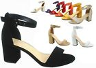 Kyпить NEW Women's Color Ankle Strap Chunky Low Heel Dress Sandal Shoes Size 5 - 10 на еВаy.соm