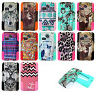 LG L15G Sunrise L16C Lucky Hybrid Dual Layer T-Stand Rubber Cover Case +Film
