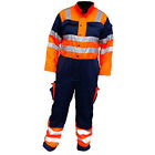 Hi Visibility Heavy Duty Contrast Recovery Hi Vis Safety Work Coveralls, HYM966