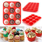 Silicone 12&24 Cup Muffin Cupcake Baking Pan Non-Stick Cake Mould Mold Tray SALE