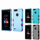 For ZTE Blade Z Max/Sequoia/Zmax Pro 2 Tuff Hybrid Brushed PC/TPU Rubber Case