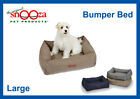 SNOOZA BUMPER BED, STABILITY & COMFORT FOR OLDER PETS, WASHABLE PET BED - LARGE