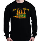 Irish Flu Shot Long Sleeve Funny Drinking Saint Patricks Day Beer Shamrock Shirt