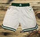 Boston Celtics White Stitched Sewn Basketball Shorts New with Tags