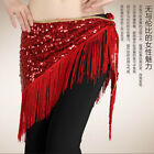 Free shipping Tassel belly dance hip scarf Triangle Shawl Belt with Sequins Belt