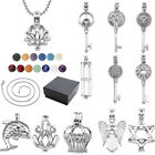 Charm Lava Chakra Beads Hollow Openable Pendant Chain Necklace 20'' Jewelry Gift