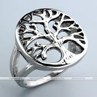 Retro Stainless Steel Carved Tree of Lift Biker Finger Ring Band Gift Jewelry
