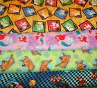 CHARACTER #11  FABRICS Sold INDIVIDUALLY NOT AS A GROUP By the HALF YARD $9.5 USD on eBay