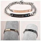 To the moon and back&I love you Stainless Steel Charm Couple Bracelet For Lover